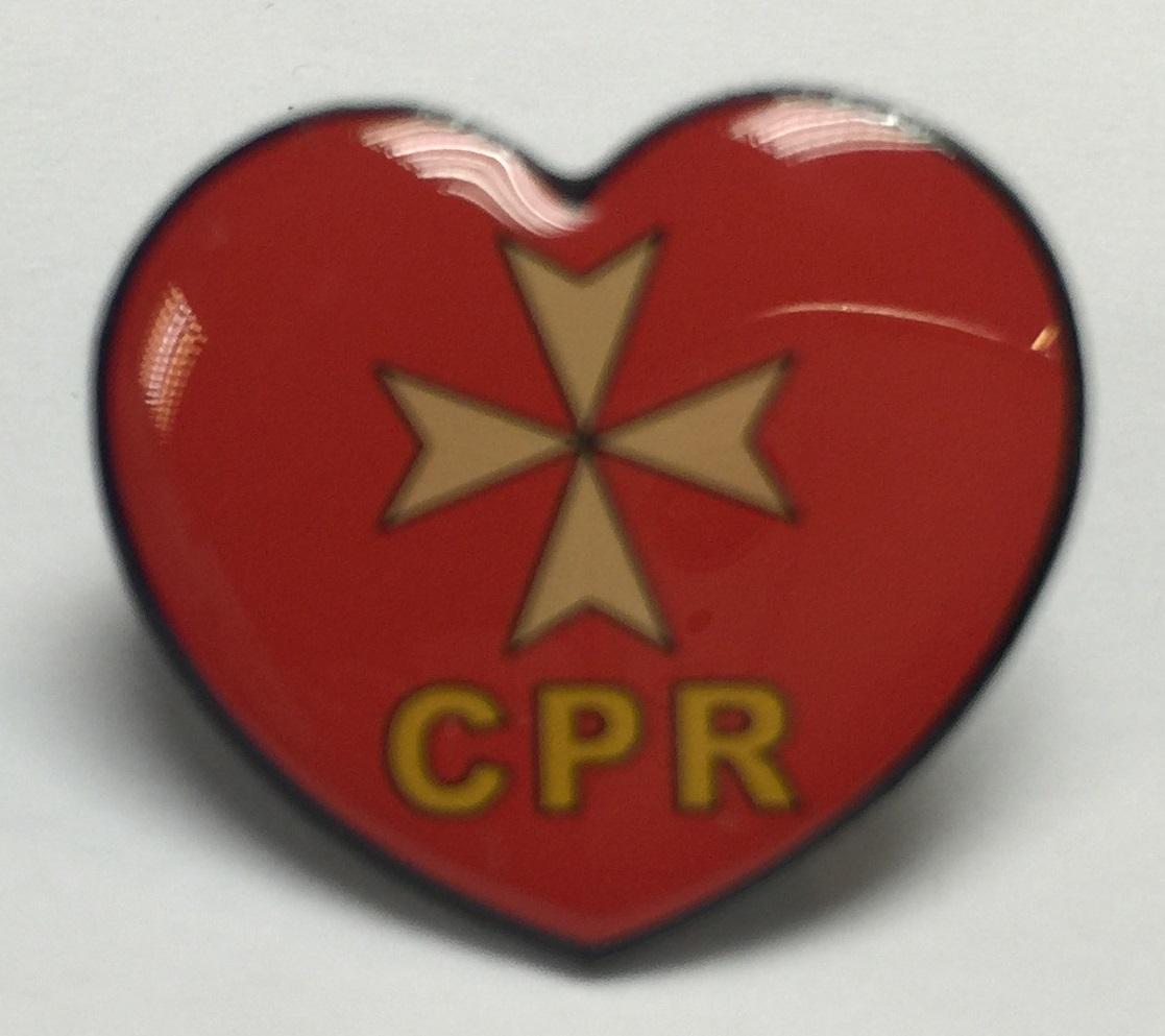 CPR襟章 (紅色)